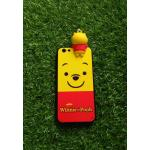 TPU ลายเส้นนูนตูนหมีเหลืองเกาะหลัง iphone6/6s