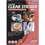 Hi-Jet CLEAR STICKER 200 Micron (A4/10 Sheets)