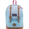 JanSport กระเป๋าเป้ รุ่น Cortlandt - Blue Topaz/Lipstick Kiss Dot-O-Rama