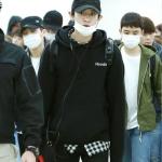 เสื้อฮู้ดแจ็คเก็ตแขนยาวสีดำ EXO พิมพ์ลายหน้าหลัง