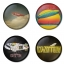 Led Zeppelin button badge 1.75 inch custom backside 4 type Pinback, Magnet, Mirror or Keychain. Get 4 in package [2]