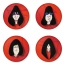 Ramones button badge 1.75 inch custom backside 4 type Pinback, Magnet, Mirror or Keychain. Get 4 in package [2]