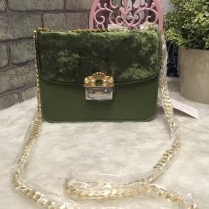 CHARLES & KEITH EMBELLISHED BUCKLE CROSSBODY BAG *สีเขียว