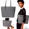 KATE SPADE HYDE LANE STRIPED RILEY LEATHER TOTE BAG สำเนา