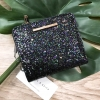 CHARLES & KEITH TEXTURED SQUARE SHORT WALLET *Black
