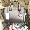 CHARLES & KEITH SAFFIANO TRAPEZE BAG * Pewter