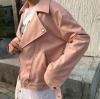 เสื้อแจ็คเก็ตหนัง ทรงสวย งานดี สวยเท่ห์เหมือนแบบ สีชมพู