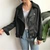 เสื้อแจ็คเก็ตหนัง ทรงสวย งานดี สวยเท่ห์เหมือนแบบ สีดำ