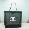 Chanel Black Mesh Tote Bag *โซ่ทอง