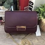 CHARLES & KEITH PUSH-LOCK CHAIN SLING BAG *Burgundy