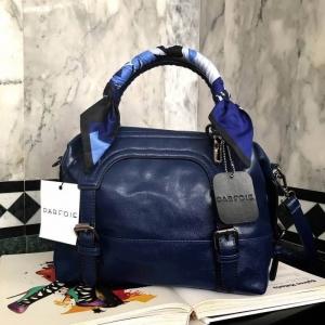 PARFOIS ทรง classic กระเป๋าถือหรือสะพายหนังสวย *น้ำเงิน