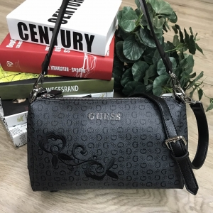 GUESS SHOULDER BAG WITH EXTRA STRAPS 2018 *ดำ