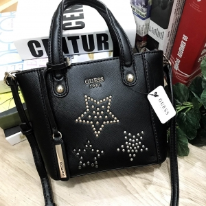 GUESS DELANEY SAFFIANO MINI CROSS BODY BAG WITH STAR