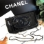Chanel Cosmetic Cluth Bag With Chain thumbnail 5