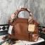 PARFOIS ทรง classic กระเป๋าถือหรือสะพายหนังสวย *น้ำตาล thumbnail 1