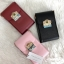 CHARLES & KEITH EMBELLISHED BUCKLE CLUTCH BAG *แดง thumbnail 6