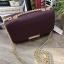 CHARLES & KEITH PUSH-LOCK CHAIN SLING BAG *Burgundy thumbnail 2