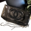Chanel Cosmetic Cluth Bag With Chain thumbnail 3