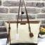 Charles&keith textured tote bag*สีครีม thumbnail 1