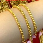 สร้อยข้อมือทองแท้ 96.5% หนัก 1 สลึง (3.8 กรัม) ยาว 14 เซน