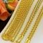 สร้อยคอทองแท้ 96.5% ห่วงคู่ หนัก 1 สลึง (3.8 กรัม) ยาว 17 นิ้ว