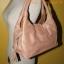 กระเป๋าถือหนังแท้ สีpink gold