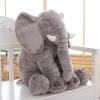 หมอนผ้าห่มแยกชิ้น ช้างน้อย สีเทา ตัวเล็ก