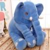 หมอนผ้าห่มแยกชิ้น ช้างน้อย สีน้ำเงิน ตัวใหญ่
