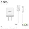 Hoco C22 ชุดชาร์จไฟโทรศัพท์ อะแดปเตอร์ + สายชาร์จ Micro USB 2.4A