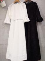 แมกซี่ลูกไม้ Dollita Embroidery Maxi Dress สีขาว