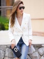 เสื้อเบรเซอร์แฟชั่น white