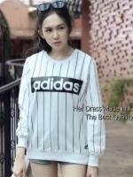 เสื้อแขนยาวแฟชั่น Adidas สีขาว