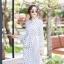 เดรสเกาหลี พร้อมส่ง Maxi dress คอจีน thumbnail 8