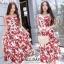 เดรสเกาหลี พร้อมส่ง ชุดเดรส ผ้าสปาเคิลพิมพ์ลายดอกไม้ thumbnail 14
