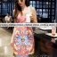 เดรสเกาหลี พร้อมส่ง Mini Dress สายเดี่ยวเส้นใหญ่ thumbnail 2