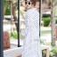 เดรสเกาหลี พร้อมส่ง Maxi dress คอจีน thumbnail 4