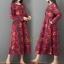 ชุดเดรสเกาหลี พร้อมส่ง Dress คอกลม ลายดอกไม้ thumbnail 5