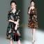 เดรสเกาหลี พร้อมส่ง Dress คอวี แขน 3 ส่วน thumbnail 15