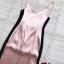 ชุดเดรสเกาหลี พร้อมส่ง Maxi Dress สายเดียว ผ้าสีพื้นมันเงา thumbnail 10
