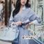 เดรสเกาหลี พร้อมส่ง เดรสเชิ้ต สีฟ้าลายริ้วสลับขาวลายทาง thumbnail 12