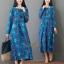ชุดเดรสเกาหลี พร้อมส่ง Dress คอกลม ลายดอกไม้ thumbnail 6