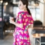 เสื้อผ้าเกาหลี พร้อมส่ง จั้มสูท ขาสั้นสีสันสดใส thumbnail 3