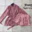 เสื้อผ้าเกาหลี พร้อมส่ง เชิ้ดผ่าหน้ายาว กับ กางเกงเอวสูง thumbnail 6