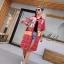 เดรสเกาหลี พร้อมส่ง Dress คอปกเชิ๊ต ลายสก๊อต thumbnail 10