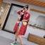 เดรสเกาหลี พร้อมส่ง Dress คอปกเชิ๊ต ลายสก๊อต thumbnail 11