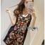 เดรสเกาหลี พร้อมส่ง เดรสสีดำ ปักลายดอกไม้ thumbnail 6