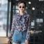เสื้อเกาหลี พร้อมส่ง เสื้อเชิ้ต ซีฟองพิมพ์ลายจุป้าจุ๊ป thumbnail 13