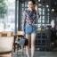 เสื้อเกาหลี พร้อมส่ง เสื้อเชิ้ต ซีฟองพิมพ์ลายจุป้าจุ๊ป thumbnail 16