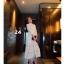 เดรสลูกไม้ พร้อมส่ง Maxi dress ลูกไม้ขาว คอปีน thumbnail 4