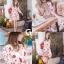 เดรสเกาหลี พร้อมส่ง มินิเดรส คอวี ปริ้นลายดอก thumbnail 9